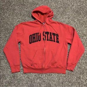 Ohio State Buckeyes Full Zip Up Hoodie Sweatshirt